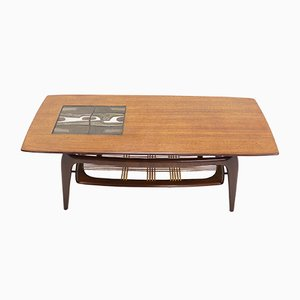 Mesa de centro de teca de Louis van Teeffelen para WéBé, años 50