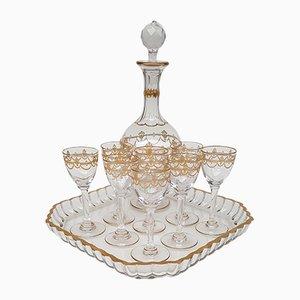 Antikes Likörservice aus Kristallglas von Saint Louis