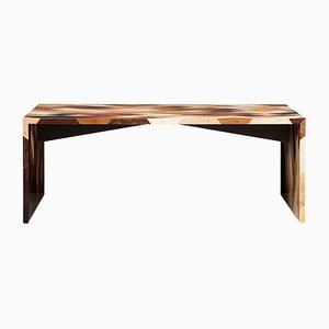 Light Wood Table by by Johannes Hock for Atelier Johannes Hock