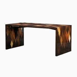 Mesa moderna de madera marrón de Johannes Hock para Atelier Johannes Hock