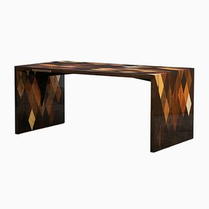 Modern Brown Wooden Table by Johannes Hock for Atelier Johannes Hock