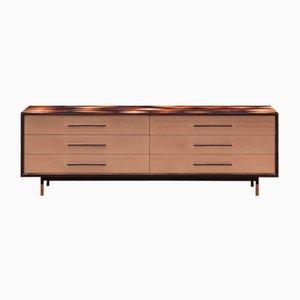 Aparador de madera marrón y bronce de Johannes Hock para Atelier Johannes Hock