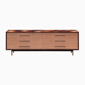Brown Wood and Bronze Sideboard by Johannes Hock for Atelier Johannes Hock