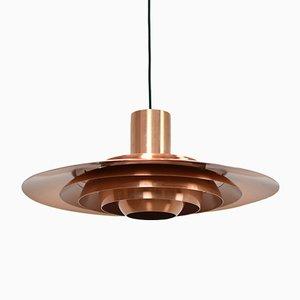Lampe à Suspension en Cuivre par Preben Fabricius & Jørgen Kastholm pour Nordisk Solar, 1960s