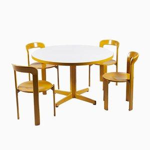 Conjunto de sillas de comedor y mesa de comedor de Bruno Rey para Kusch + Co, años 70