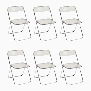 Folding Chairs by Giancarlo Piretti for Castelli / Anonima Castelli, 1970s, Set of 6
