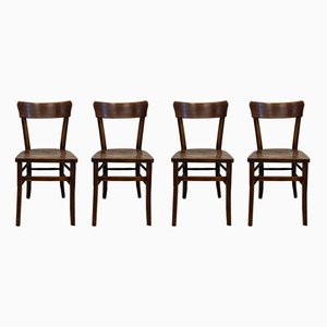 Antique Rustic Pub Chairs, 1910, Set of 4