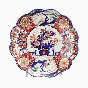 Antiker japanischer Imari Teller mit geschwungenem Rand, 1900er