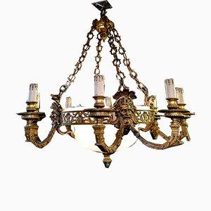 Lámpara de araña neoclásica antigua