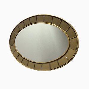 Espejo ovalado de Cristal Art, años 60