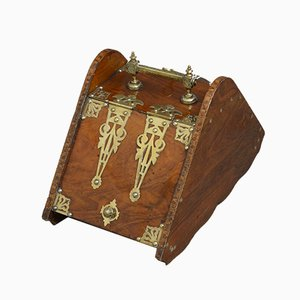 Antiker Arts and Crafts Kohlebehälter