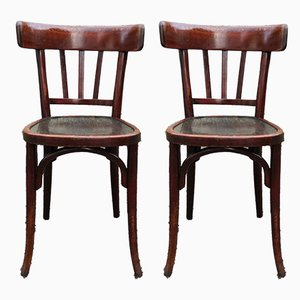 French Bistro Chairs from Baumann, 1920s, Set of 2