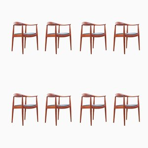 Lounge Chairs by Hans J. Wegner for Johannes Hansen, 1949, Set of 4