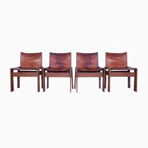 Dining Chairs by Tobia & Afra Scarpa for Molteni, 1970s, Set of 4