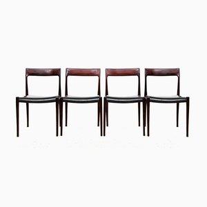 77 Beistellstühle aus Palisander von Niels Otto Møller für J.L. Møllers, 1950er, 4er Set