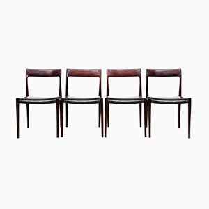 Rosewood 77 Side Chairs by Niels Otto Møller for J.L. Møllers, 1950s, Set of 4