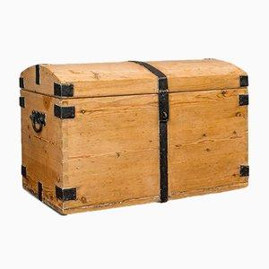 Cassettiera antica in legno di pino e ferro, Regno Unito