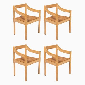 Model Carimate Dining Chairs by Vico Magistretti for F.lli Mario Luigi Comi Sedie Poltrone, 1950s, Set of 4