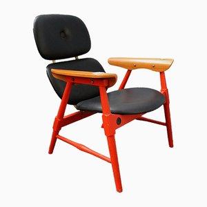 Orangefarbener Sessel von Poltronova, 1970er