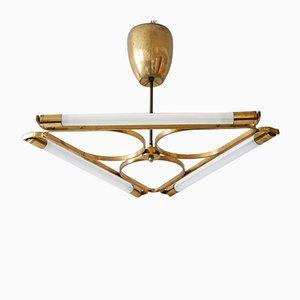 German Art Deco Brass Pendant Lamp, 1930s