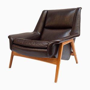 Mid-Century Leather Armchair by Folke Ohlsson