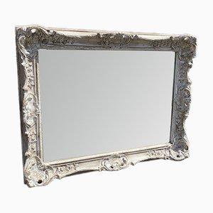 Espejo inglés antiguo de madera tallada