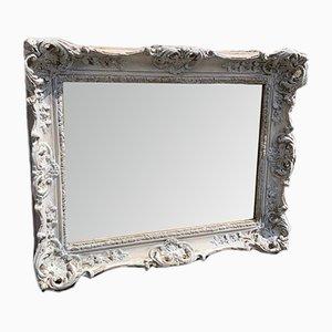 Espejo inglés antiguo grande de madera tallada