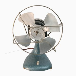 Mid-Century Industrial Table Fan from Iskra