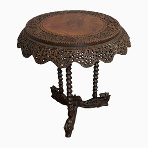 Antique Teak Coffee Table, 1880s