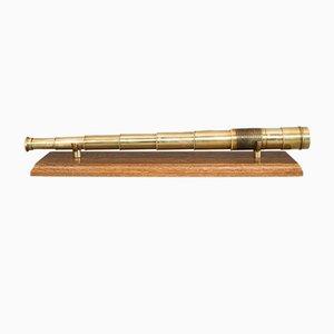 Antikes englisches Taschenteleskop aus Messing, 1840er