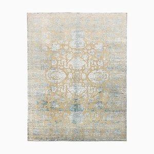 Indischer Teppich aus Wolle & Seide, 1970er