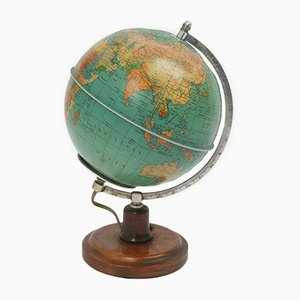 Mid-Century World Globe Lamp