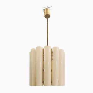 Lámpara de araña de cristal de Murano en espiral de Paolo Venini para Murano, años 60