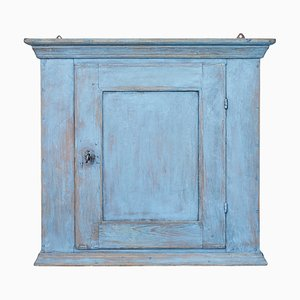 Antique Swedish Painted Hanging Wall Cabinet