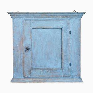 Mueble de pared colgante sueco antiguo pintado