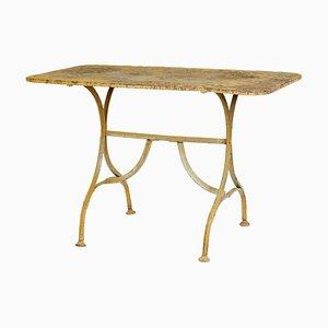 Antiker lackierter Gartentisch aus Gusseisen