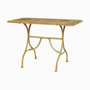 Table de Jardin Antique en Fonte Peinte