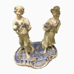 Grande Figurine en Céramique par Capodimonte, années 50