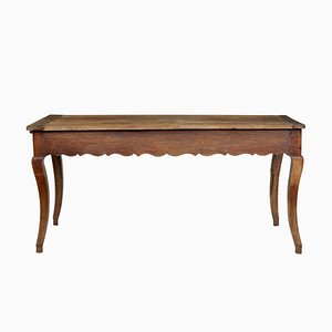 Antique French Rustic Chestnut Side Table