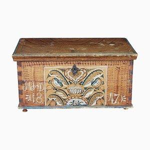 Antique Folk Art Kurbits Decorative Box