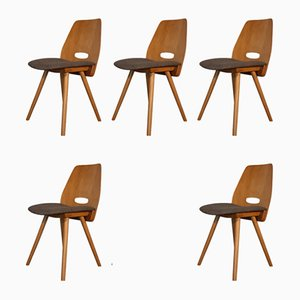 Vintage Model Lollipop Dining Chairs by František Jirák for Tatra, 1960s, Set of 5