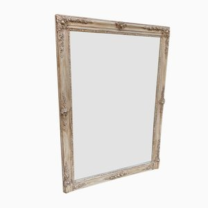 Large Antique Louis Philippe French Carved Wood and Gesso Mirror