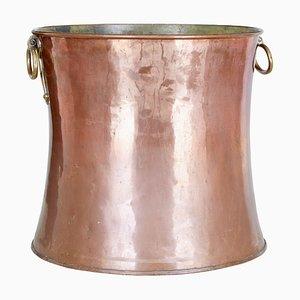 Papelera antigua de cobre