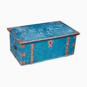 Antike lackierte schwedische Box aus Kiefernholz