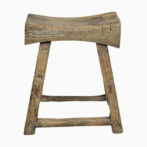 Antique Chinese Hardwood Stool