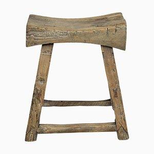 Sgabello antico in legno massiccio, Cina