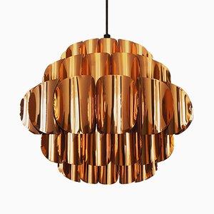 Copper Pendant Lamp by Thorsten Orrling for Temde, 1960s