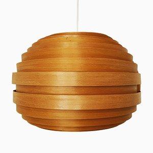 Lámpara colgante de madera, años 60