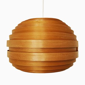 Wooden Pendant Lamp, 1960s