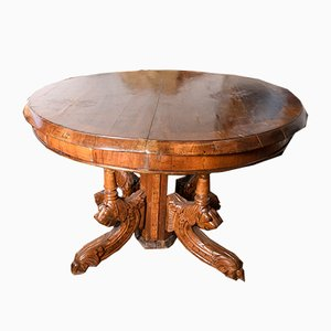 Antique Italian Dining Table, 1870s